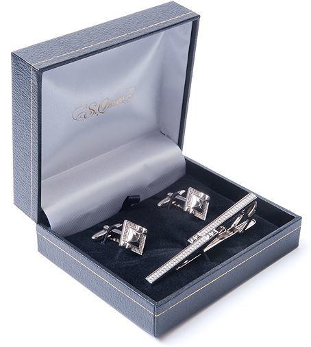 подарок-для-брата запонки и зажим для галстука