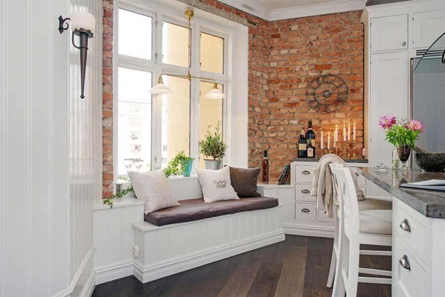 шведский интерьер элегантная квартира (3)