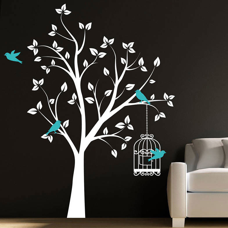 Детские наклейки на стену в виде дерева