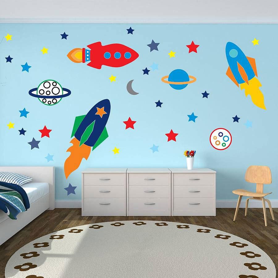 Детские наклейки на стену из винила в стиле космос