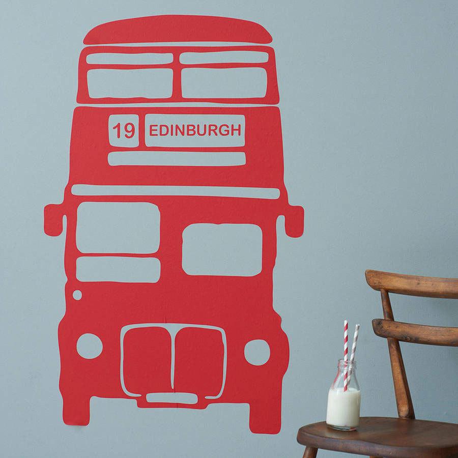 Детские наклейки на стену в в виде автобуса