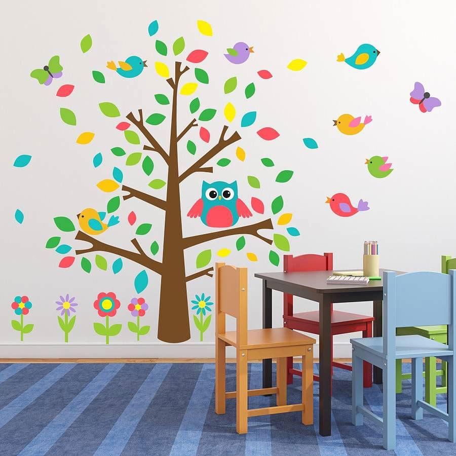 Веселые Детские наклейки на стену