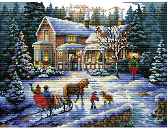 Набор для вышивания крестом Встреча рождества