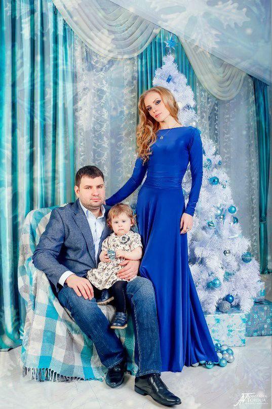 Новогодняя сказка. Фотосессия в сине-голубых тонах