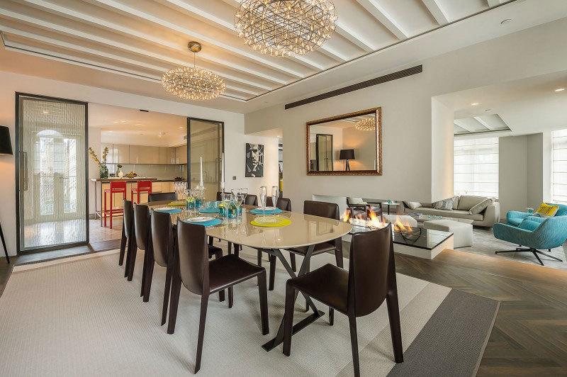 Элитный дизайн интерьера квартиры в центре Лондона (1)