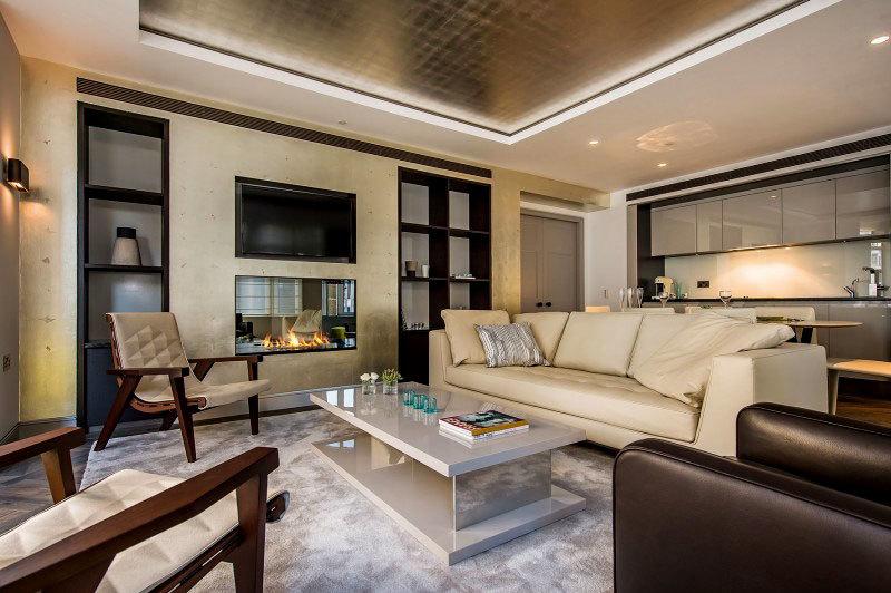 Ультра-Стильный дизайн интерьера квартиры в центре Лондона (4)