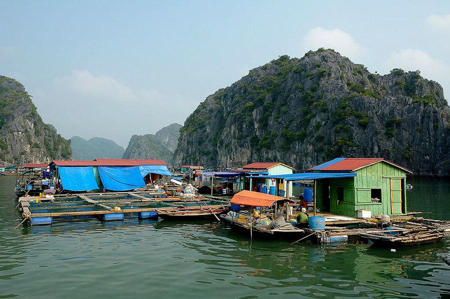 деревня на воде во Вьетнаме