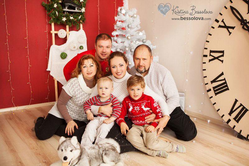 семья новый год