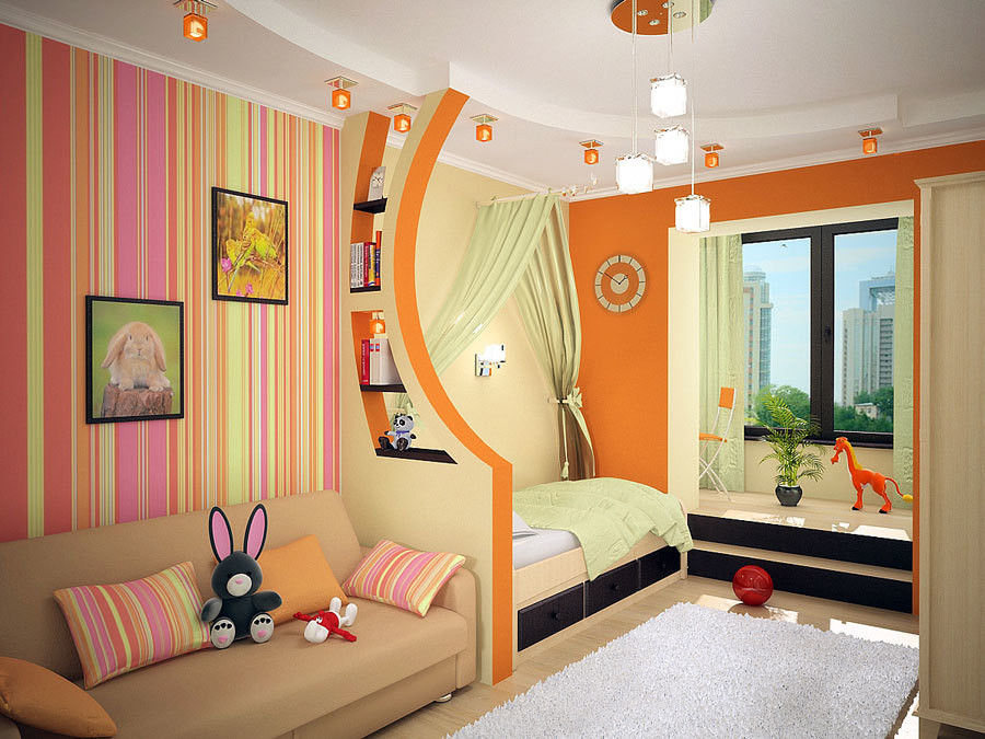 красивое освещение для детской комнаты