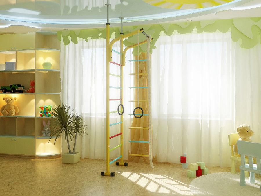 отличное естественное освещение в детской комнате