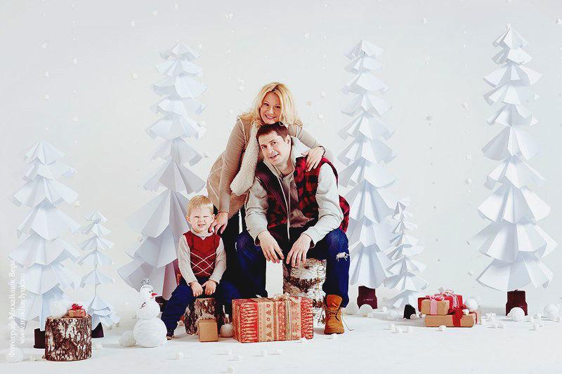 Фон для новогодней фотосессии в домашних условиях