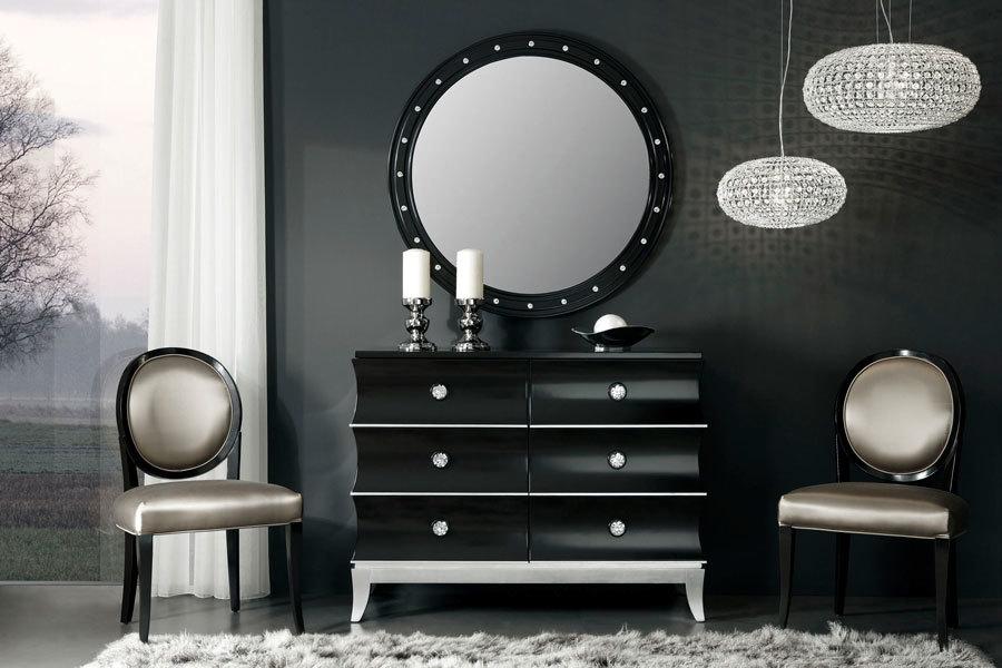 элегантый комод в черно-белом стиле