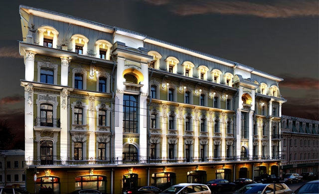 Здание РЖД подсветка