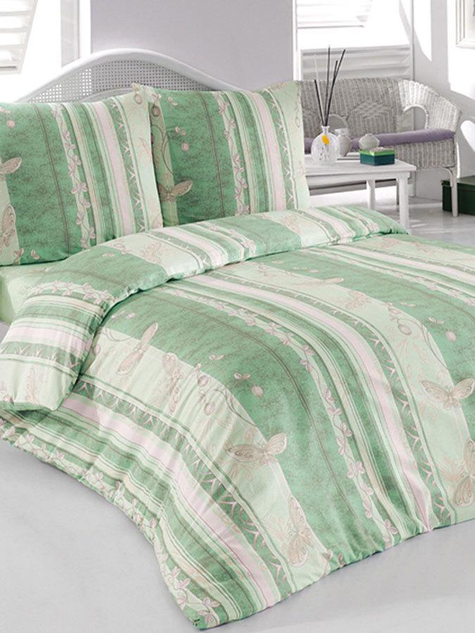 зленый комплект белья для постели