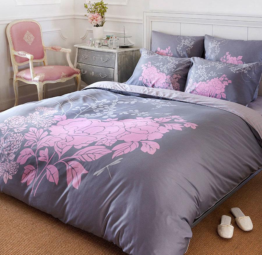 Сиреневый комплект постельного белья (1)