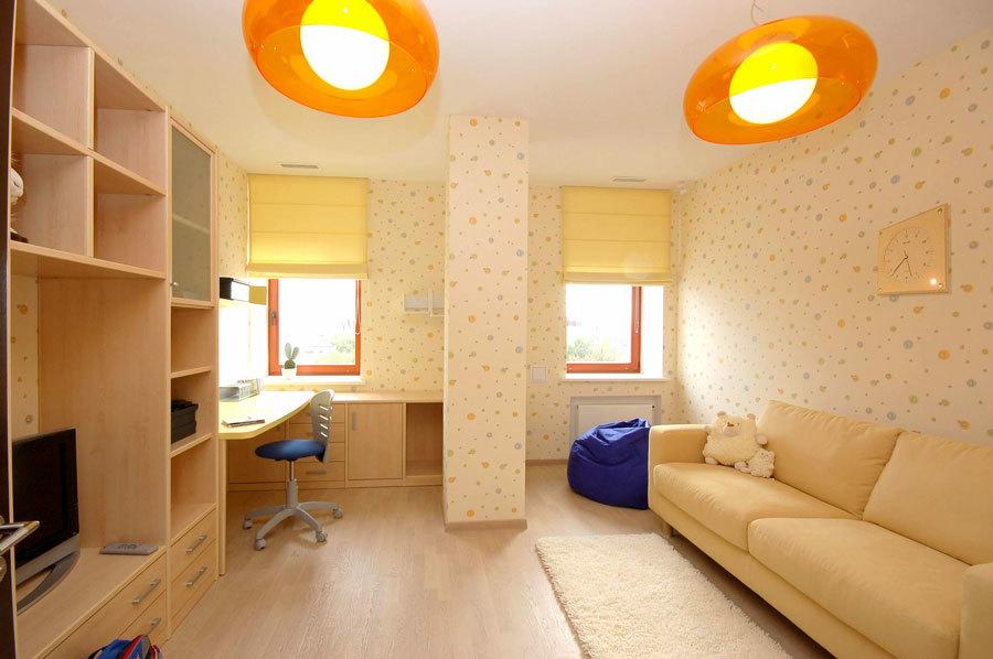 мебель в детскую комнату в оранжевых тонах