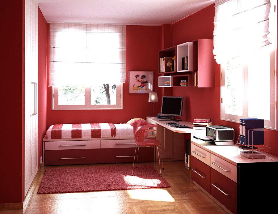 пример дизайна небольшой детской комнаты