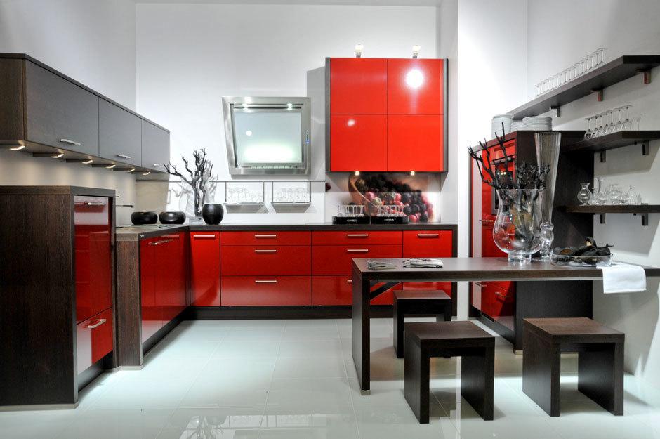 Красные кухни от Nolte Küchen (1)