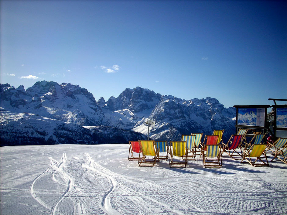 Мадонна-ди-помпильо курорт в Альпах.