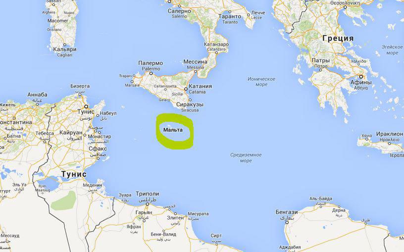 Мальта на карте Средиземья.