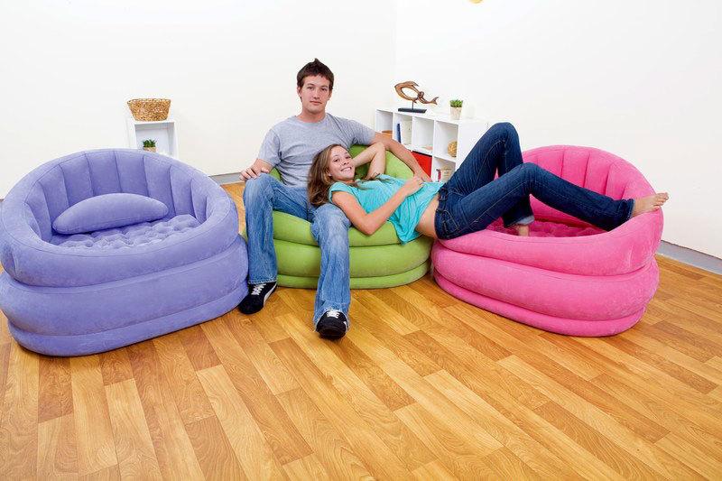 Надувная мебель в современном дизайне интерьера.