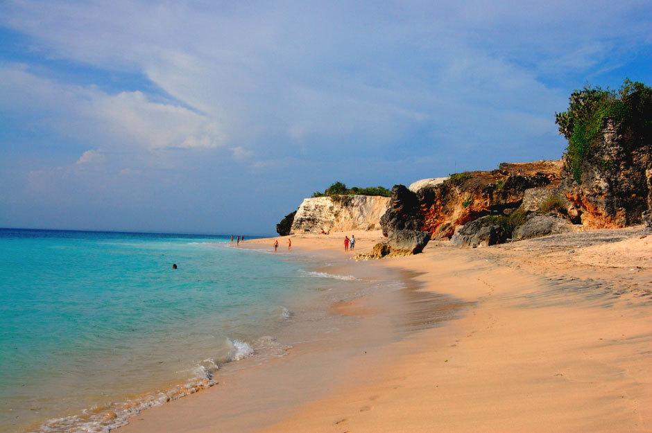 Пляж Uluwatu,Бали, Индонезия.