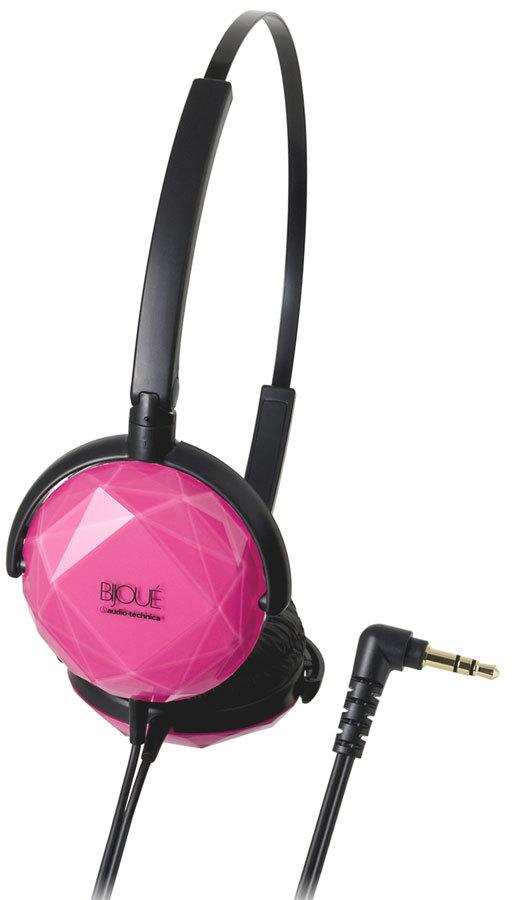 Розовые наушники Audio-Technica.
