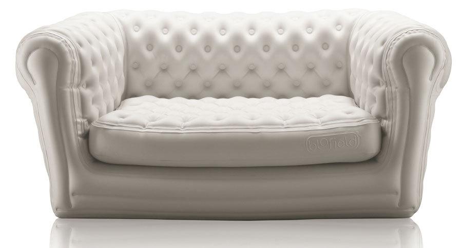 бежевый надувной диван биофилд