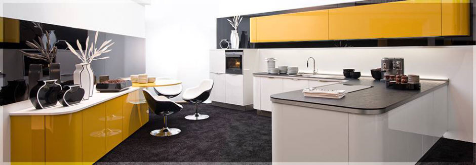 желтые глянцевые кухни (1)