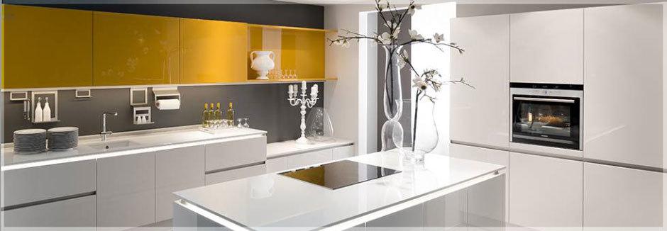 желтые глянцевые кухни (2)
