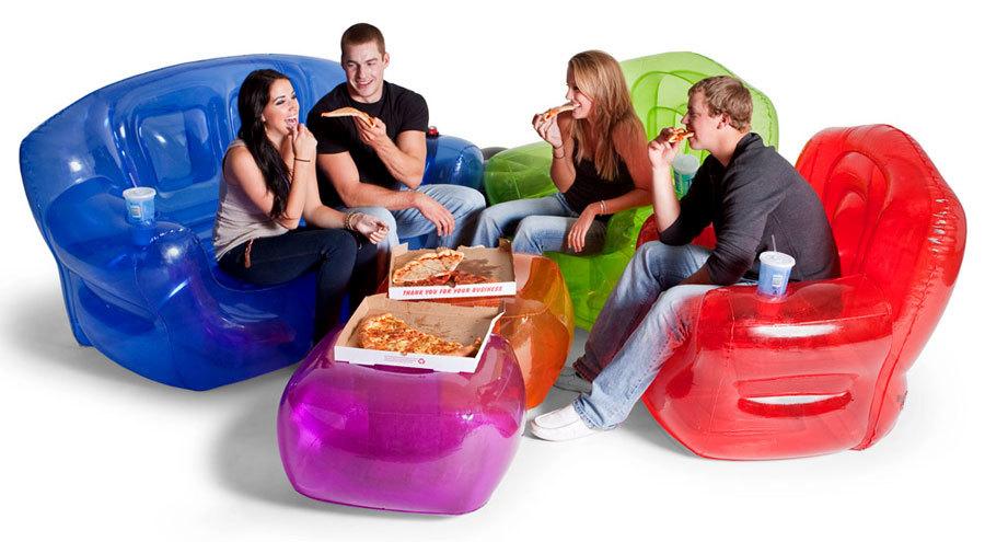 полупрозрачная надувная мебель