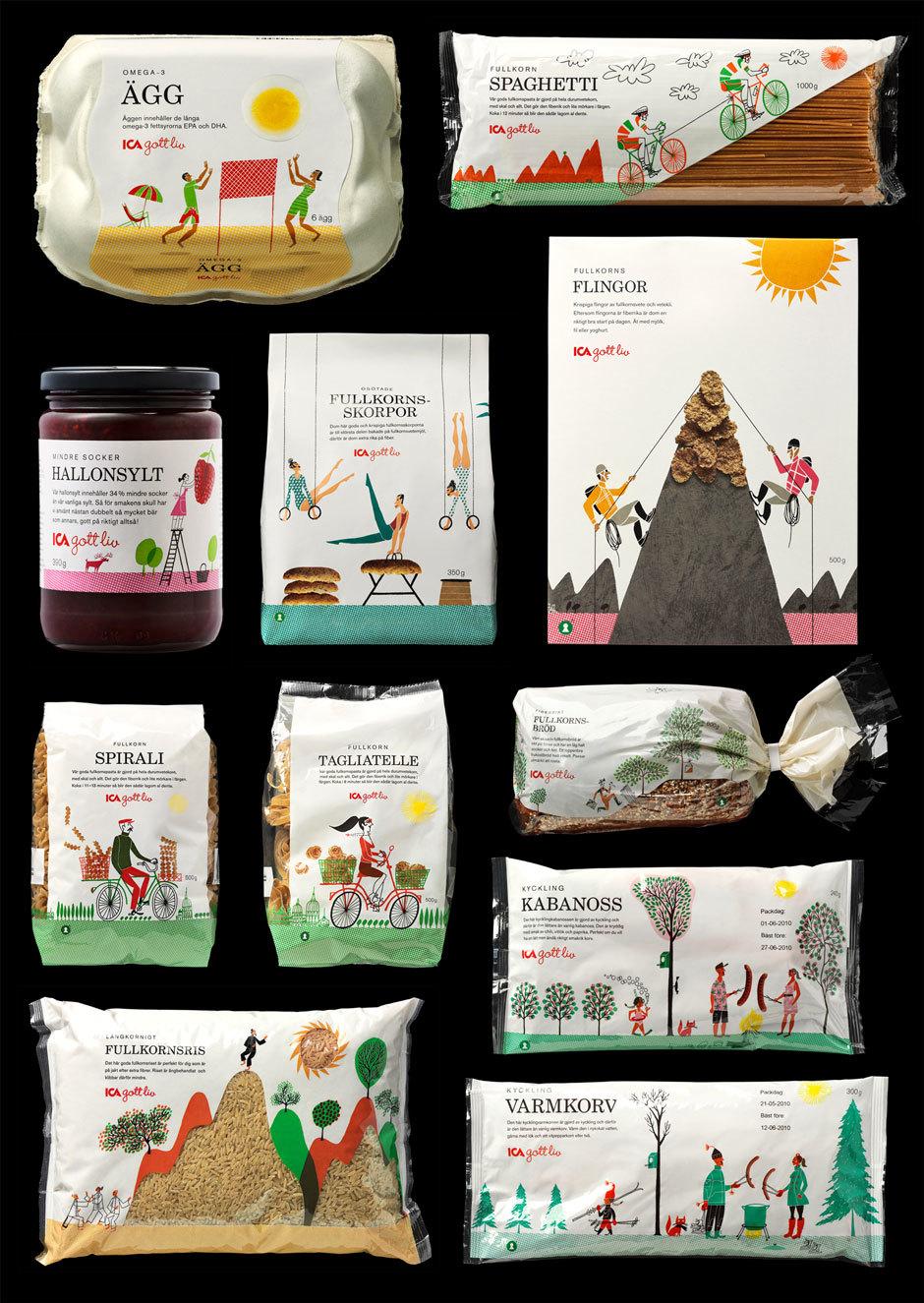стильный дизайн упаковки продуктов питания