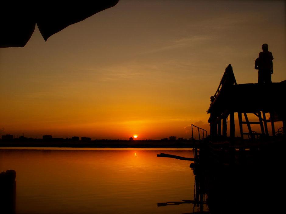 Закат в Камбожди