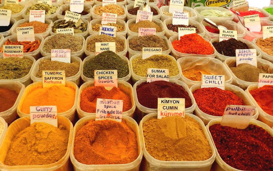 Рынок турецких пряностей и специй