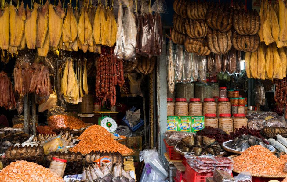 Соленая, сушеная и вяленая еда камбоджийцев