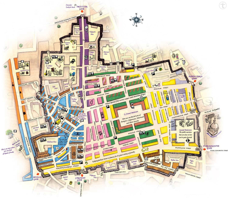 Стамбульский гранд базар карта