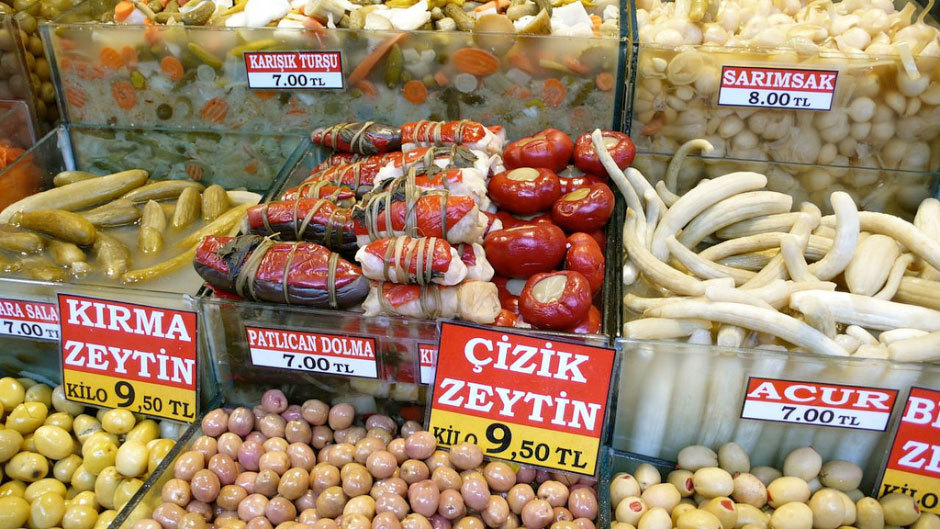 еда на турецких рынках