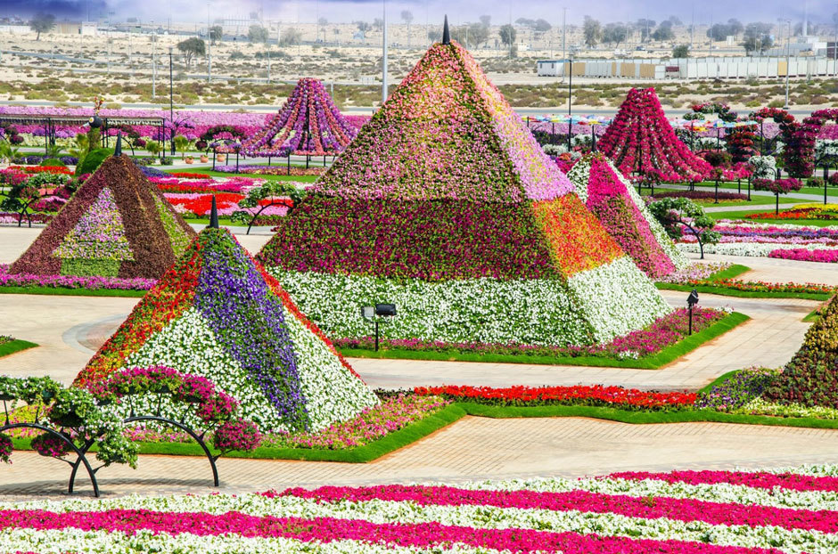 пирамиды из цветов