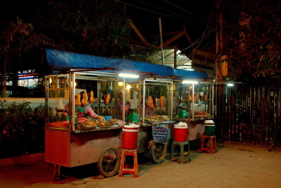 Siem Reap, уличное кафе