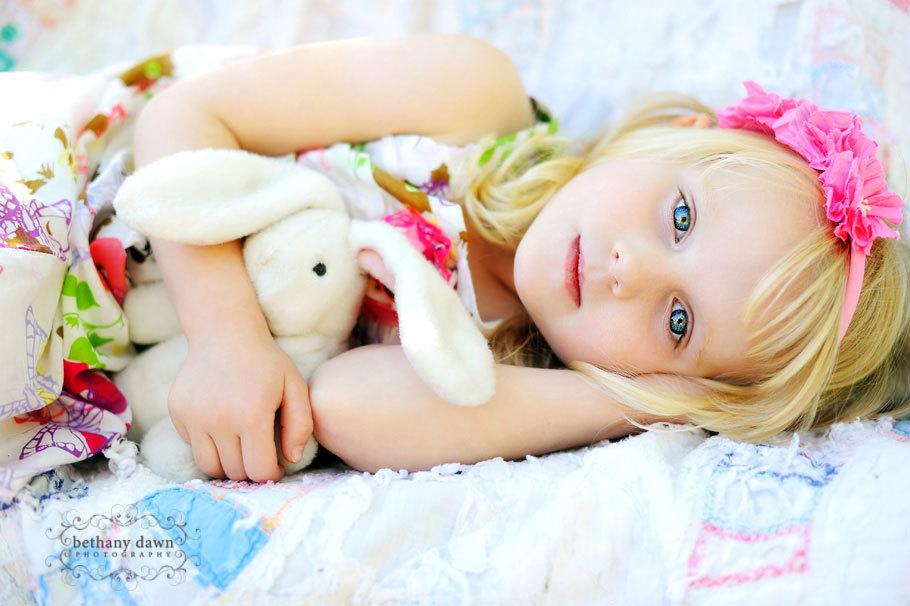 Детская пасхальная фотосессия