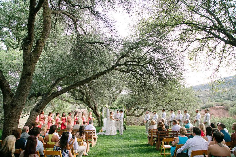 свадебная церемония на открытом воздухе
