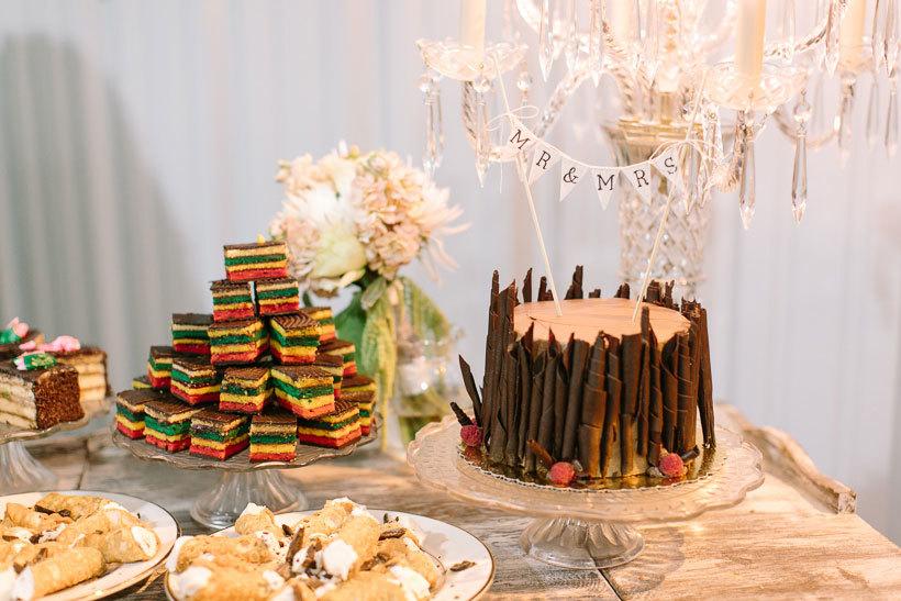свадебный торт и десерты