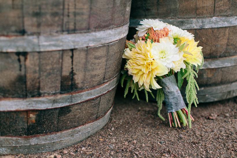сельский свадбеный букет