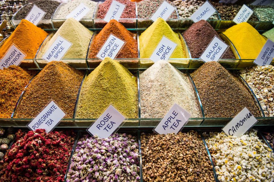 специи на египетском рынке
