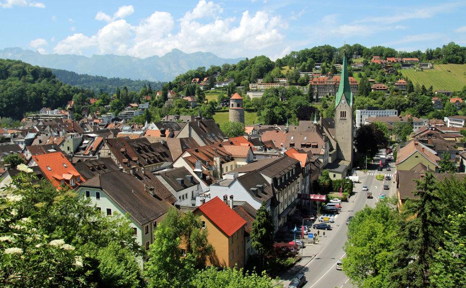 Над крышами Фельдкирх - Австрия