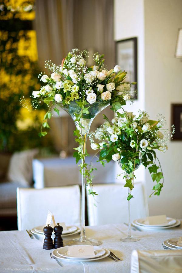 букеты на свадебном столе