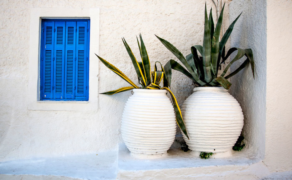 вазы на улице