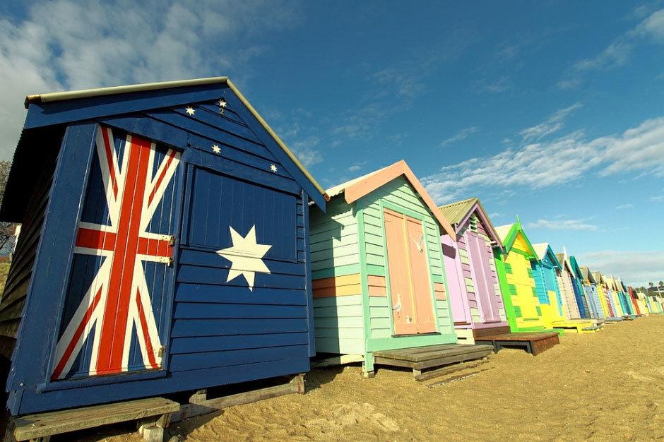 пляжные австралийские домики