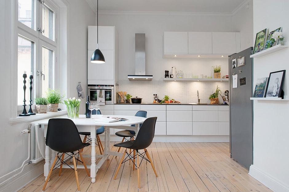 кухня в бело-сером стиле