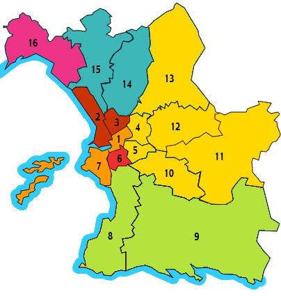 муниципальные округи Марселя